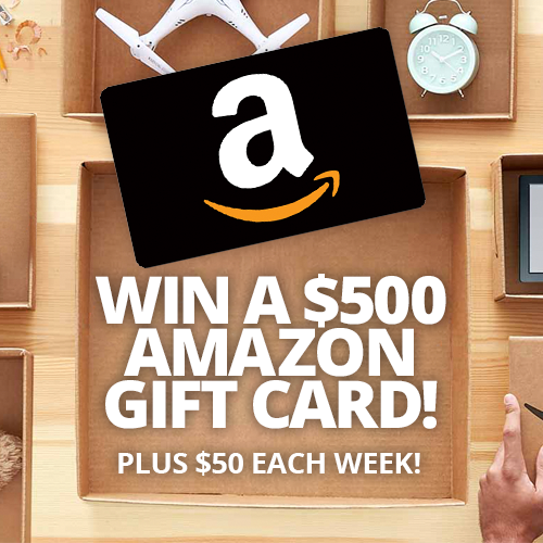 Win a 500 or 50 amazon egift card black flag deals for Enter now to win